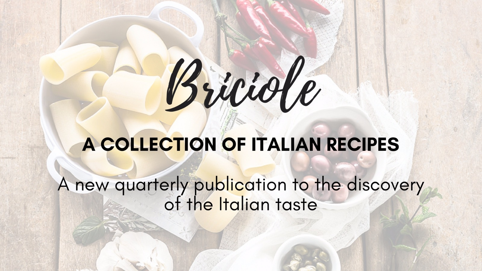 A delicious Italian recipes ebook. A new quarterly publication to the discovery of the Italian taste.