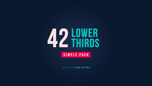 42 Lower Thirds Simple Pack