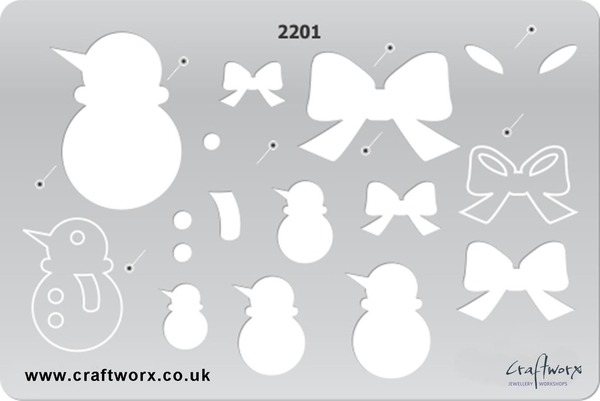 Craftworx Metal Clay Template #2201