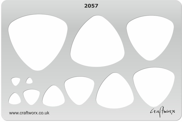 Craftworx Metal Clay Template #2057