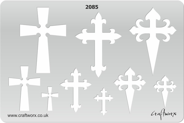 Craftworx Metal Clay Template #2085