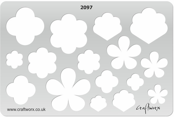 Craftworx Metal Clay Template #2097