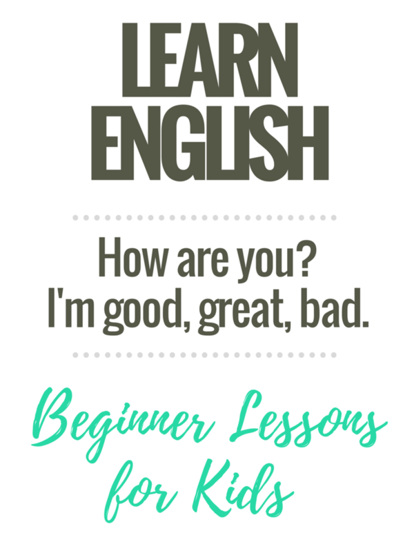 Beginner English Worksheets for Kids: How are you?