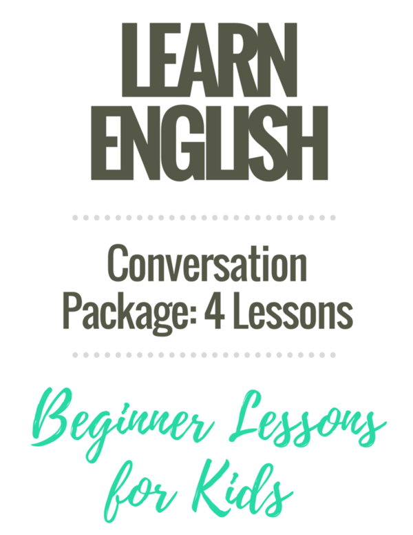 Beginner English Worksheets: Conversation Starter Package