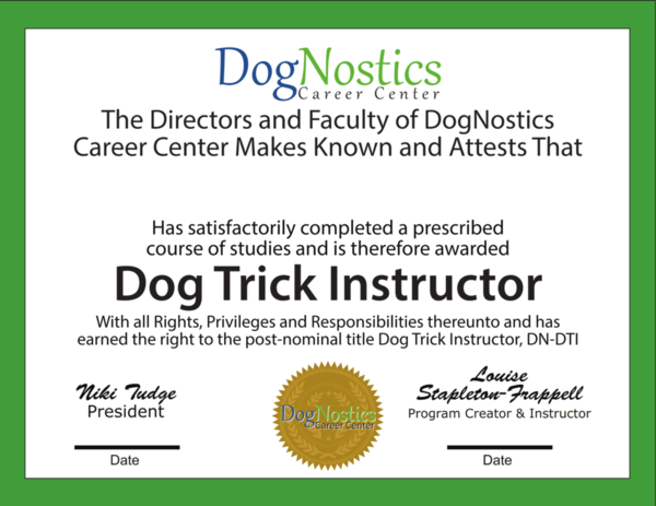 Get Dog Trick Certified - This is the certification product not the program