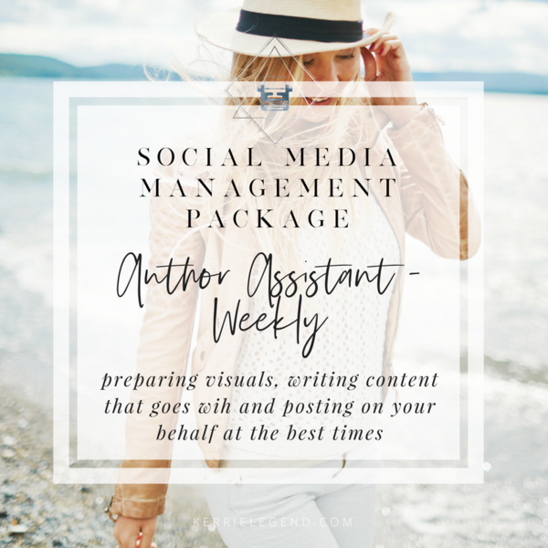 Social Media Management Package - Author Assistant - Weekly