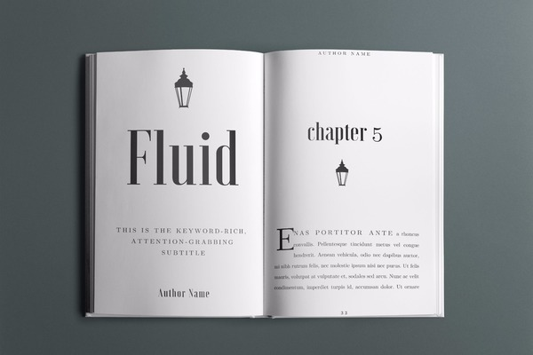 Fluid Book Interior Template - 30+ Pages