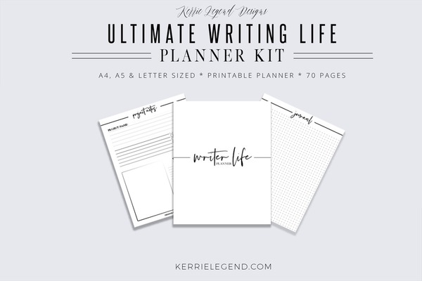 Ultimate Writer Life Binder, Writer Planner, Blog Planner, Writing Binder, Author Kit, Printable