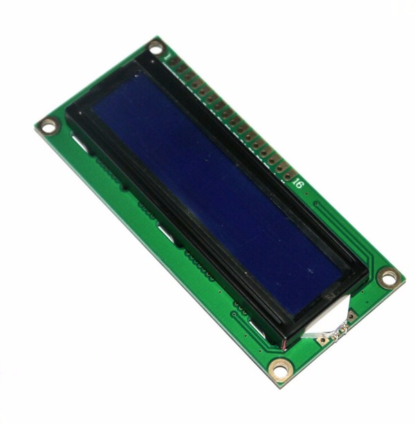 2x16 LCD screen with Blue backlight