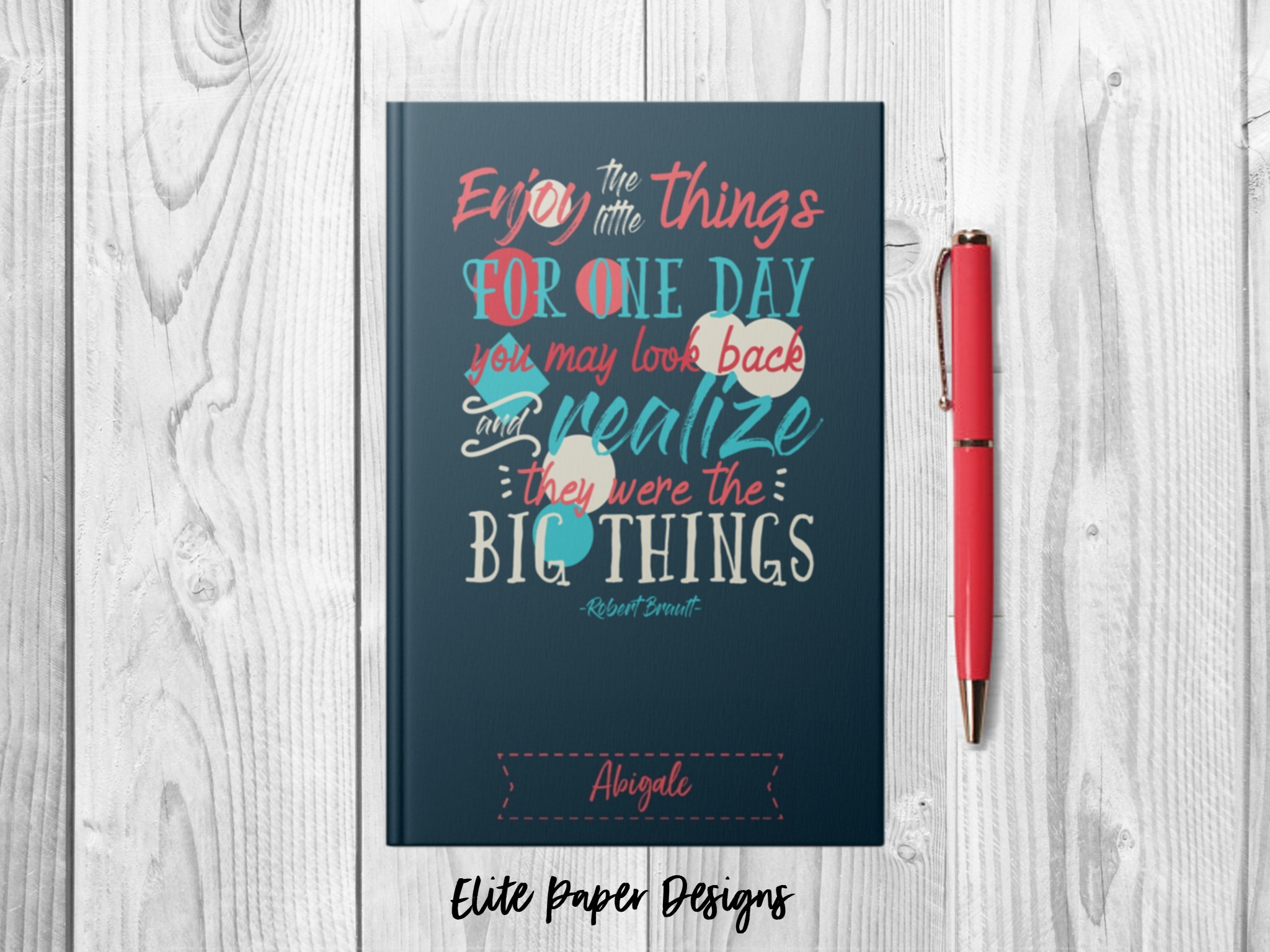 enjoy the little things personalized journal notebook 6 x 9