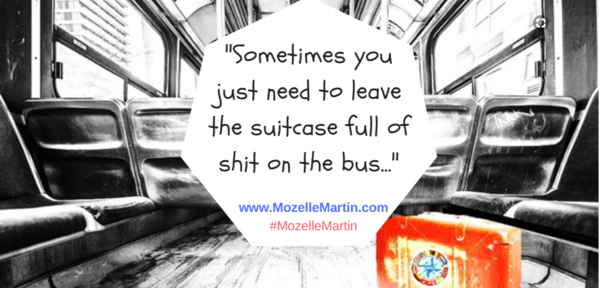 Suitcase on the Bus Quote