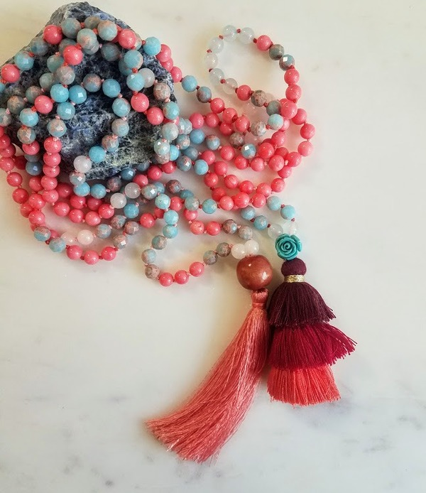 Sisters of Peace | Pair of matching 108 bead malas