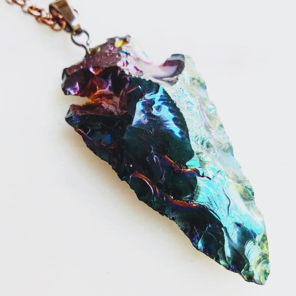 Northern Lights | Aurora Arrowhead chain necklace
