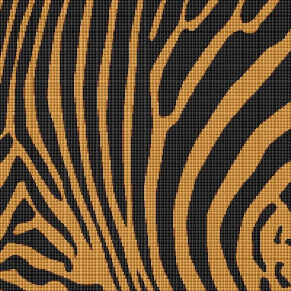 Tiger Stripes Cross Stitch Pattern Animal Print