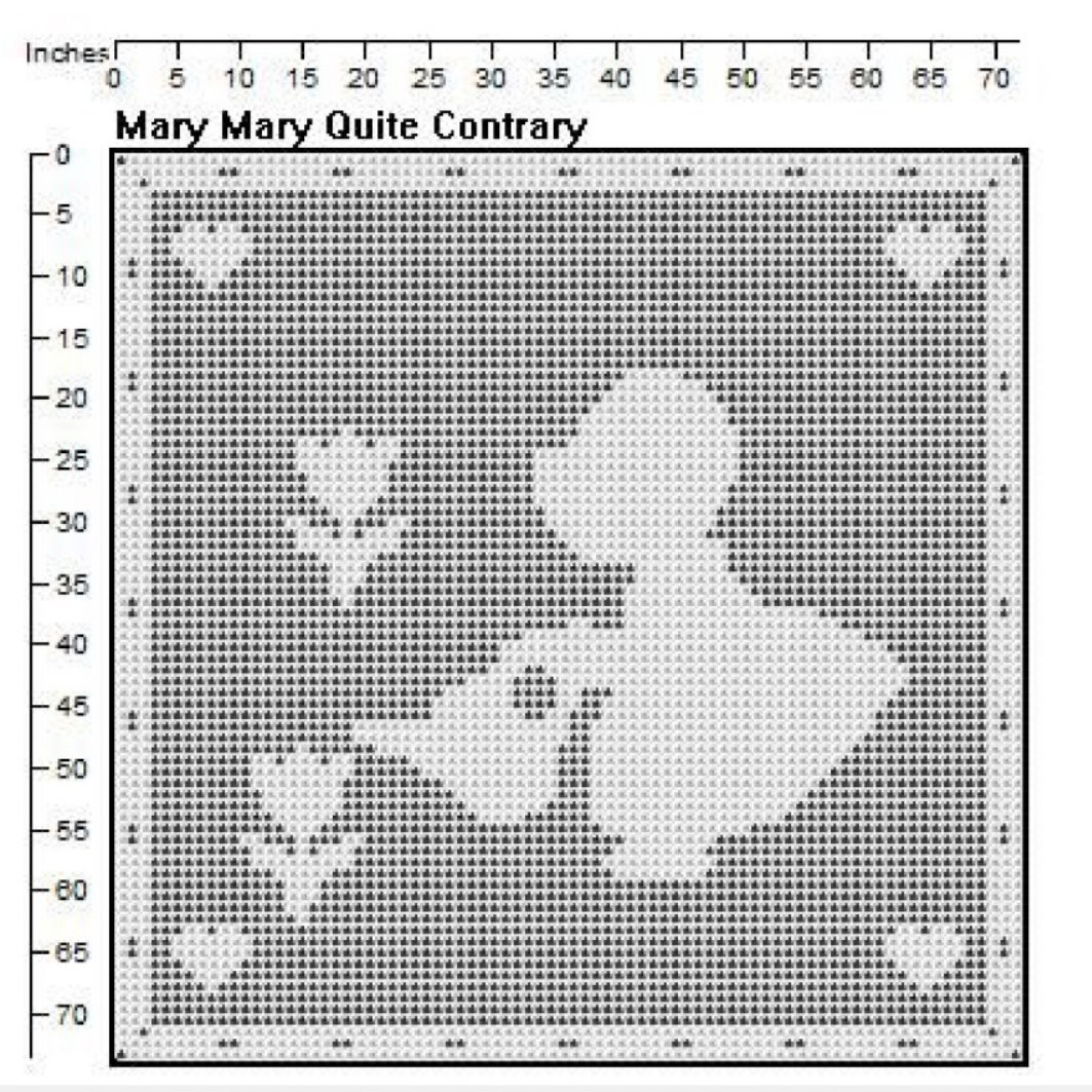 Mary Quite Contrary Filet Crochet Pattern - Jiffy Pattern Shop