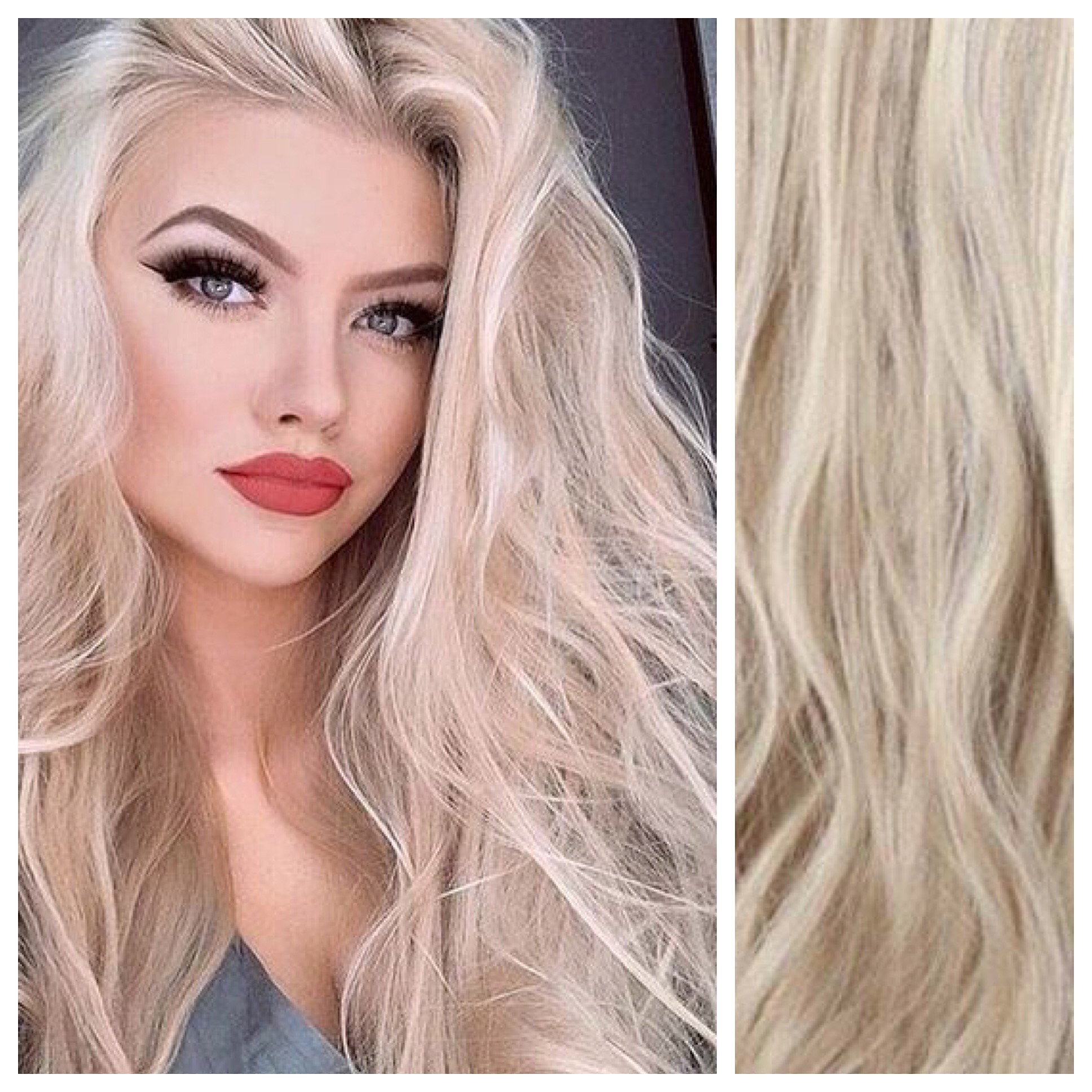 Ash Blonde Hair With Platinum Blonde Highlights Hair Extensions 24