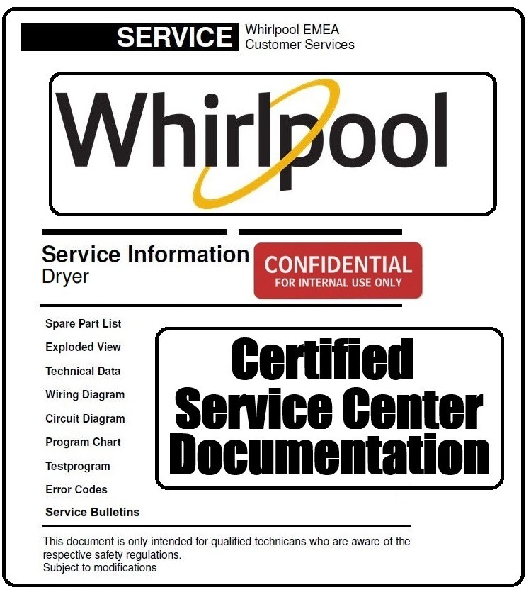 whirlpool hscx 80426 dryer service technicians manual - any service manual