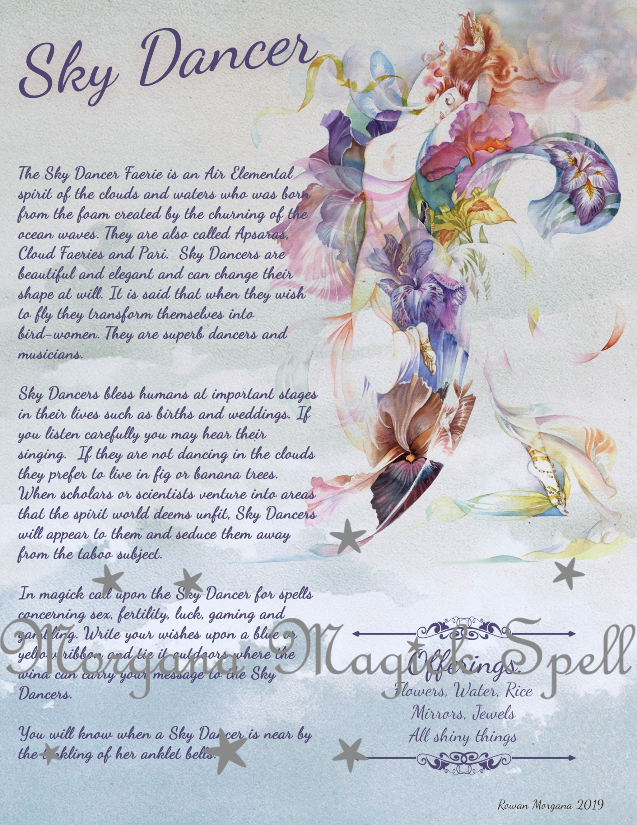 SKY DANCER Realm of the Fey Lore - Morgana Magick Spell