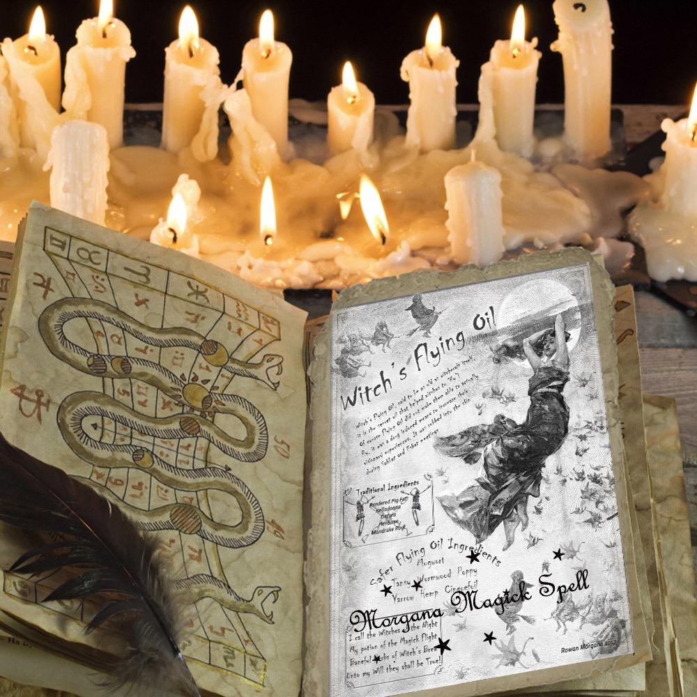 WITCH'S FLYING OIL - Morgana Magick Spell
