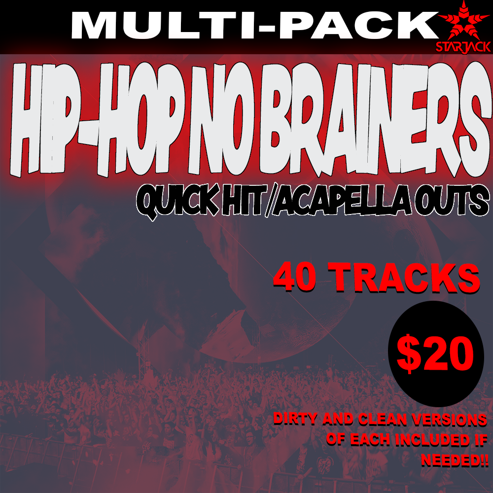 Starjack Hip-Hop No Brainers 40 Pack - Quick Hit / Acapella Outro -  Mixinit IO
