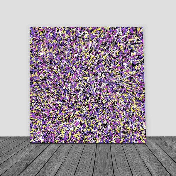 Number 24 Digital Drip Abstract Printable Pay What You Want