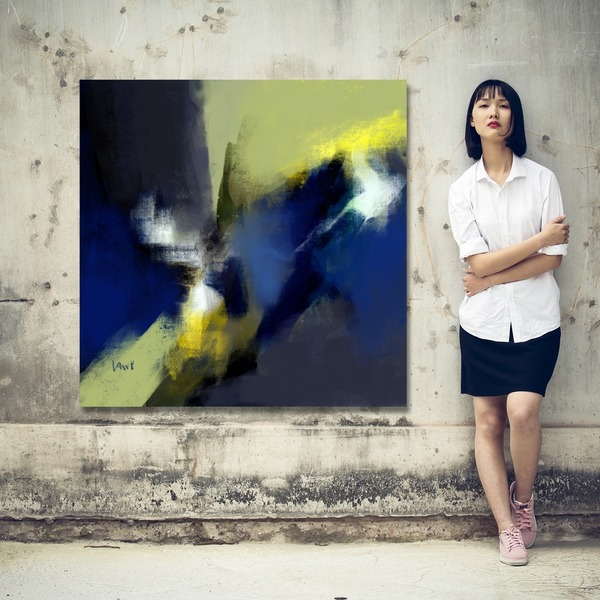 Number 18 Large Abstract Painting Printable-Free or Pay What You Want