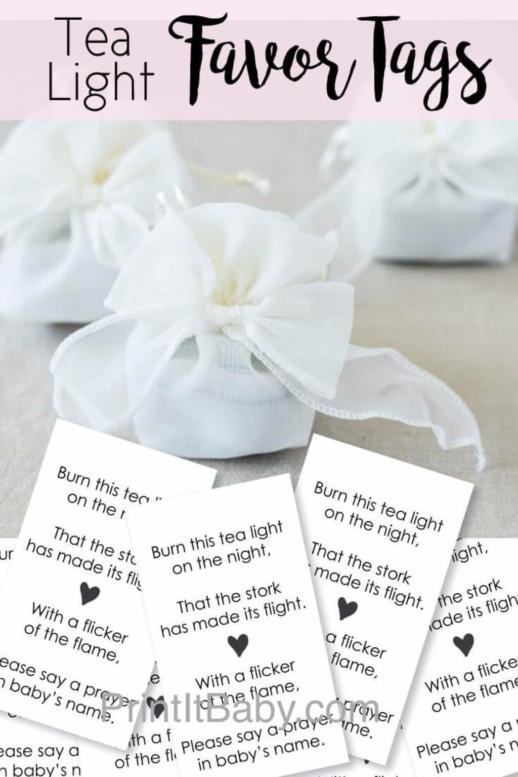 Printable Favor Tags For Tea Light Baby Shower Favors - PrintItBaby ...