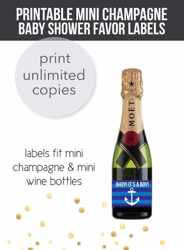Mini Champagne Wine Labels Print It Baby - Free mini wine bottle label template