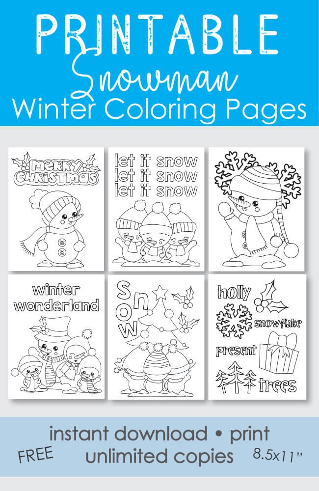 free coloring pages winter theme - photo#37