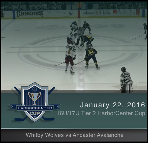 16U/17U Tier 2 Whitby Wolves vs Ancaster Avalanche