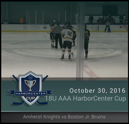 18U AAA Amherst Knights vs Boston Jr. Bruins