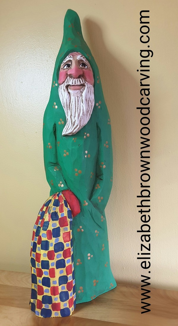 Large Santa with Quilt