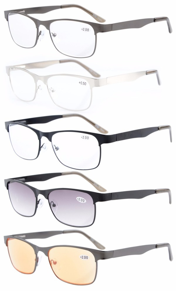 3217f0a75d0 Eyekepper 5-pack Metal Spring Hinges Reading Glasses Include Computer  Readers R15017-Mix-5pcs