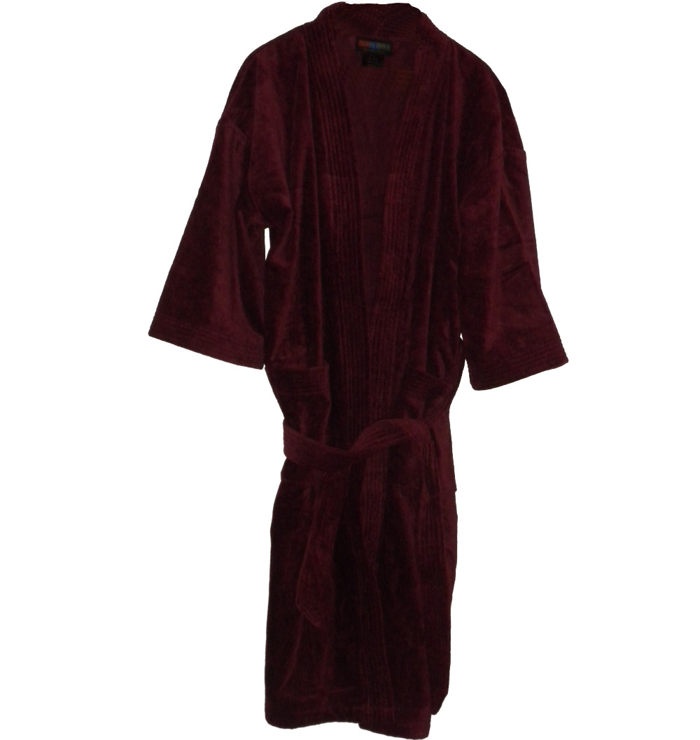 baaf088054 Burgundy Heavy Terry Velour Bathrobe for monogramming personalized  customized gift - B Mejia