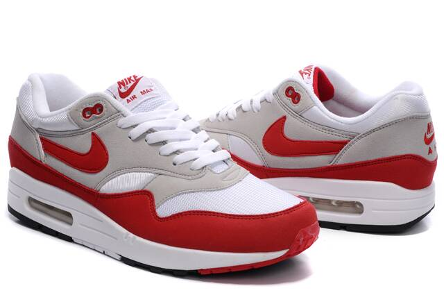 the best attitude 64480 455d5 Men Nike Air Max 87 Red White Grey - Bright Shopping