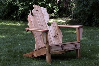 Image For Michirondack Chair   Cedar